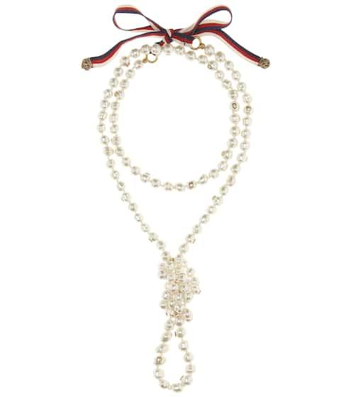 Gucci Halskette mit Zierperlen
