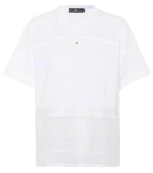 Adidas by Stella McCartney T-Shirt Essentials mit Mesh-Applikation