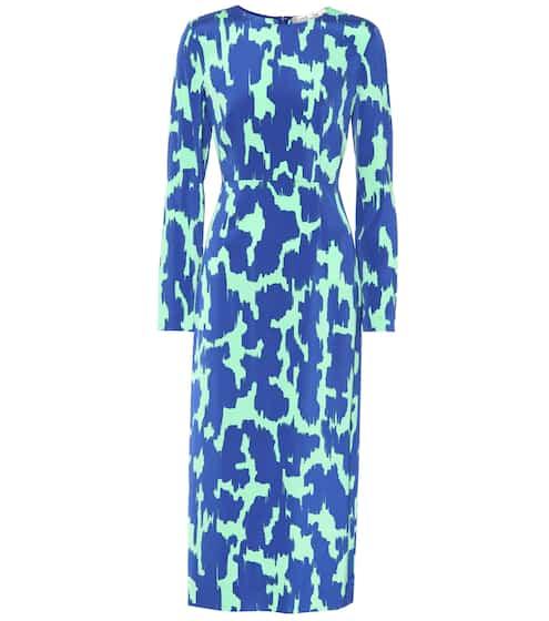 Diane von Furstenberg Bedrucktes Kleid mit Seidenanteil