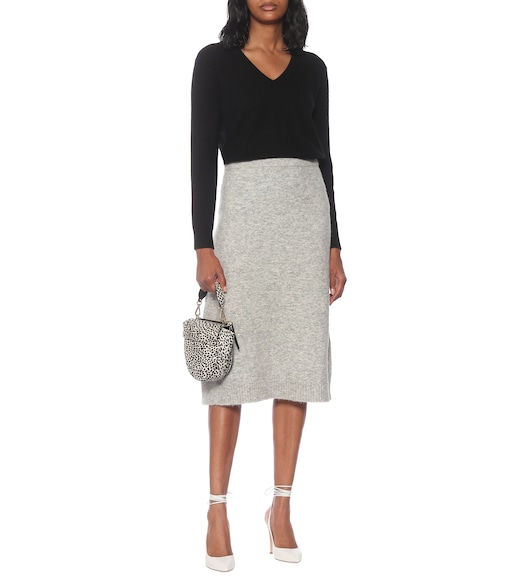 Max Mara - Leida high-rise wool-blend skirt - mytheresa.com