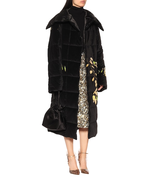 Dries Van Noten - Floral velvet coat - mytheresa.com