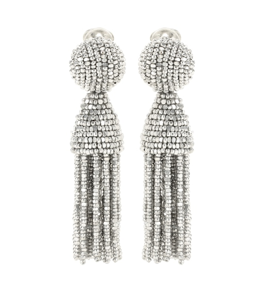 Oscar de la Renta - Tassel clip-on earrings - mytheresa.com