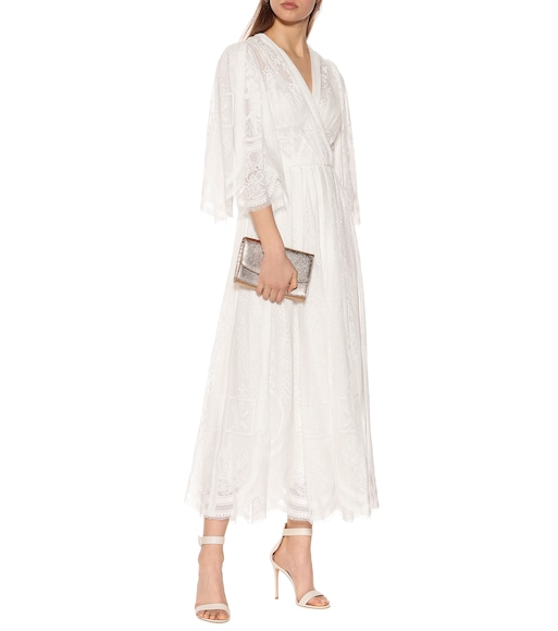 Dolce & Gabbana - Cotton-blend lace maxi dress - mytheresa.com