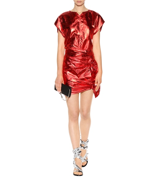 Isabel Marant - Metallic leather mini skirt - mytheresa.com