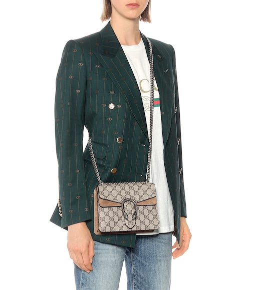 Gucci - Dionysus GG Supreme Mini coated canvas and suede shoulder bag - mytheresa.com