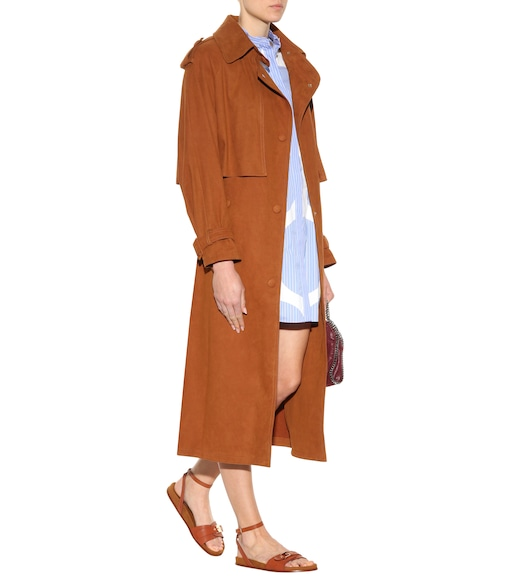 Stella McCartney - Trench-coat en daim synthétique Cecile - mytheresa.com