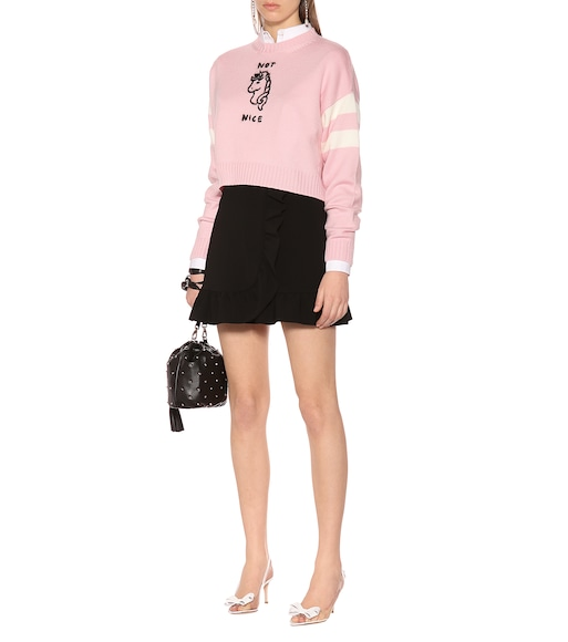 Miu Miu - Not Nice cropped wool sweater - mytheresa.com