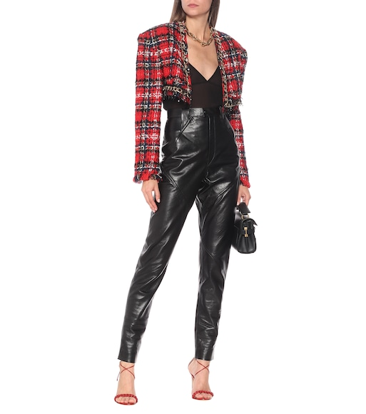 Balmain - Cropped-Jacke aus Tweed - mytheresa.com