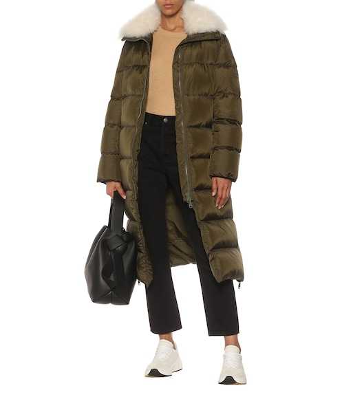 Yves Salomon - Army shearling-trimmed down coat - mytheresa.com