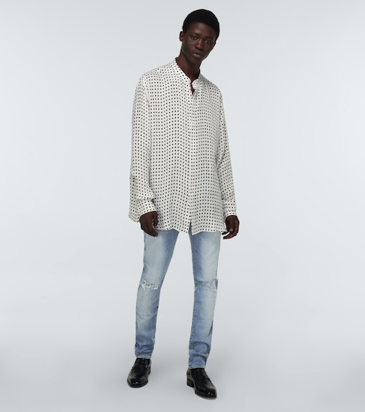 Balmain - Long-sleeved printed shirt - mytheresa.com