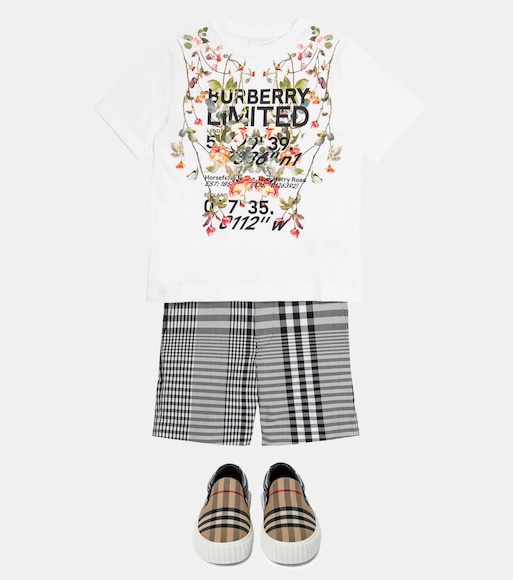 Burberry Kids - Printed cotton jersey T-shirt - mytheresa.com