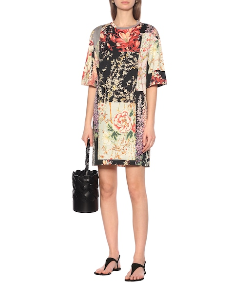 Etro - Floral cotton-jersey minidress - mytheresa.com