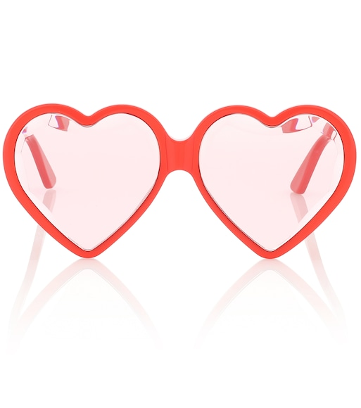 Gucci - Heart-frame sunglasses - mytheresa.com