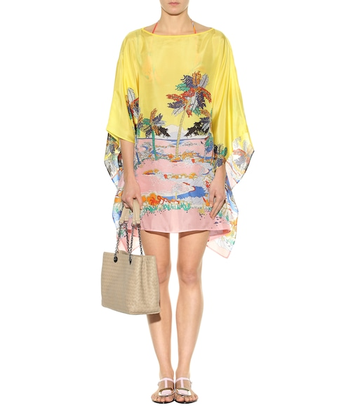 Emilio Pucci Beach - Printed silk cover up - mytheresa.com