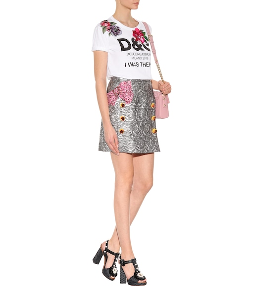 Dolce & Gabbana - Embellished cotton T-shirt - mytheresa.com