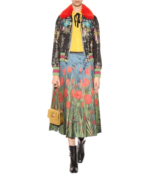 Gucci - Silk pleated midi skirt - mytheresa.com