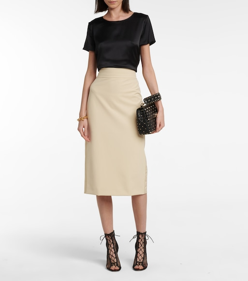 Max Mara - Gervaso stretch-jersey pencil skirt - mytheresa.com