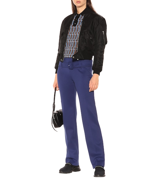 Prada - Belted technical jersey pants - mytheresa.com