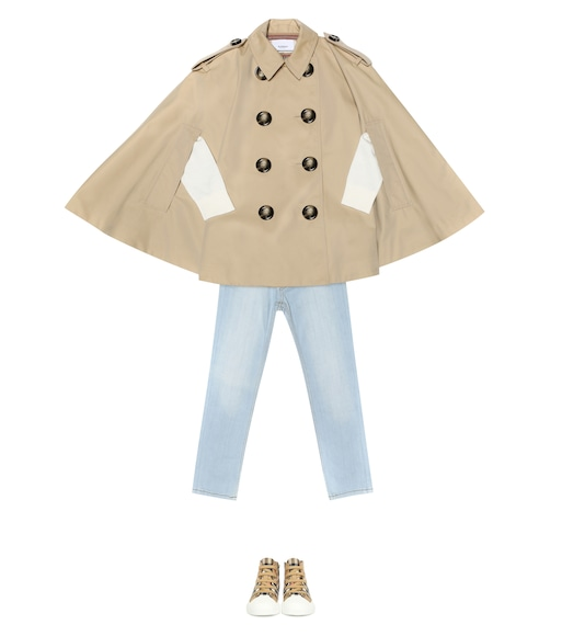 Burberry Kids - Cotton gabardine cape - mytheresa.com