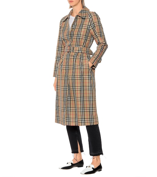 Burberry - Karierter Trenchcoat The Kempton - mytheresa.com