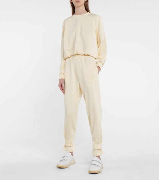 Frankie Shop - Drawstring cotton terry sweatshirt - mytheresa.com