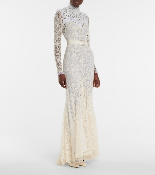 Alessandra Rich - Floral lace bridal gown - mytheresa.com