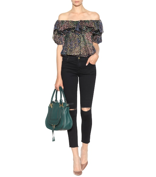 Chloé - Printed cotton and silk blend top - mytheresa.com