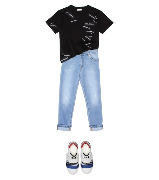 Dolce & Gabbana Kids - Logo cotton T-shirt - mytheresa.com