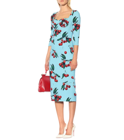 Dolce & Gabbana - Exclusive to Mytheresa – cherry printed midi dress - mytheresa.com
