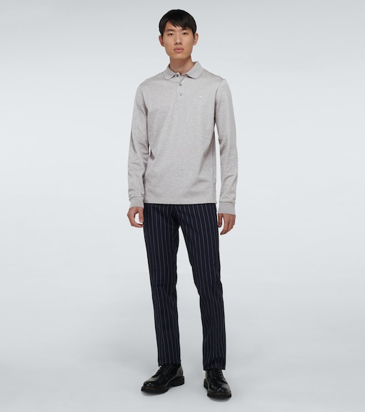 Ralph Lauren Purple Label - Cotton long-sleeved polo shirt - mytheresa.com