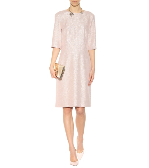 Lanvin - Metallic silk-blend dress - mytheresa.com