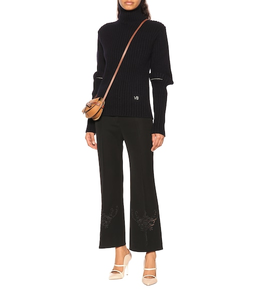 Stella McCartney - Alissa embroidered wool pants - mytheresa.com