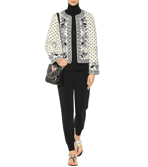 Tory Burch - Tilda embroidered cotton jacket - mytheresa.com