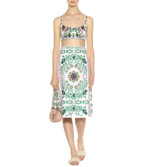Tory Burch - Greenfield cotton skirt - mytheresa.com