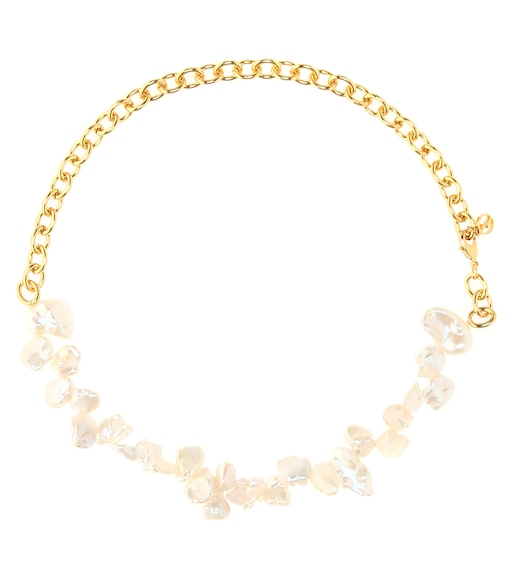 Anissa Kermiche - Two Faced Shelly gold-plated pearl necklace - mytheresa.com