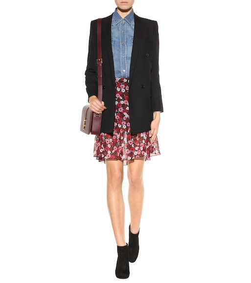 Saint Laurent - Floral-printed silk skirt - mytheresa.com