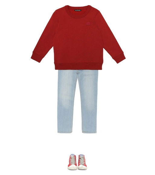 Acne Studios Kids - Mini Fairview Face cotton sweatshirt - mytheresa.com