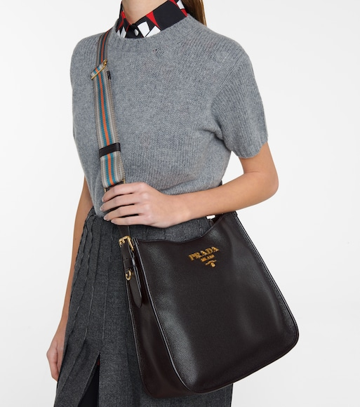 Prada - Daino Medium leather tote - mytheresa.com