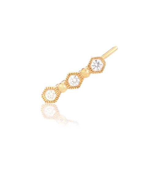 Stone Paris - Charmante 18kt gold single earring with diamonds - mytheresa.com