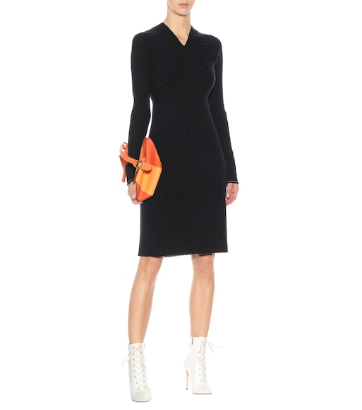 Victoria Beckham - Wool-blend sweater dress | mytheresa.com