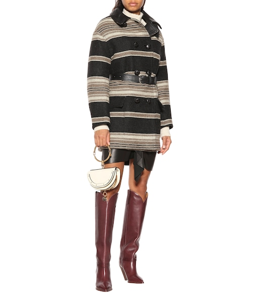Isabel Marant - Hilda striped wool-blend coat - mytheresa.com