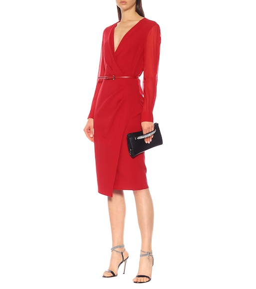 Max Mara - Manuel stretch-wool crêpe dress - mytheresa.com