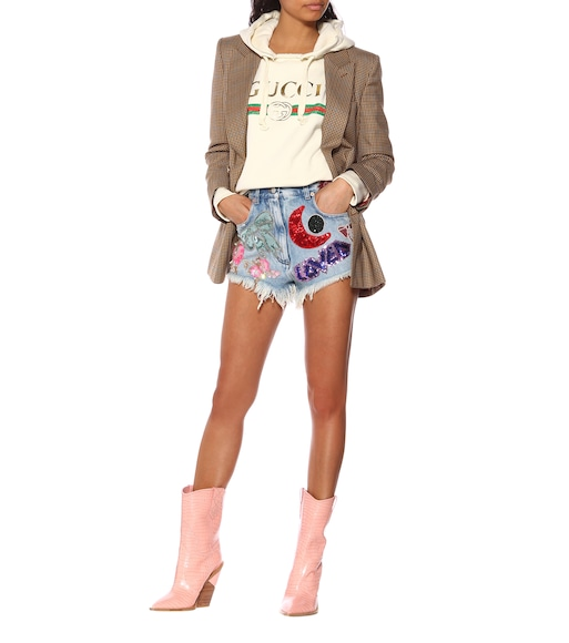 Gucci - Sequined denim shorts - mytheresa.com