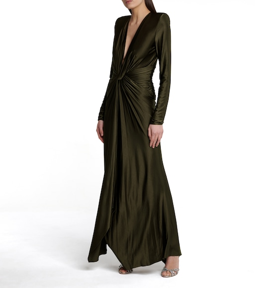 Alexandre Vauthier - Gathered stretch-jersey gown - mytheresa.com