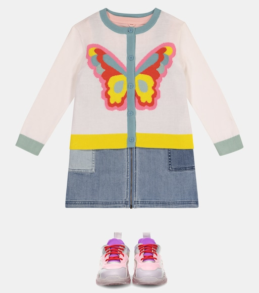 Stella McCartney Kids - Intarsia-knit cotton cardigan - mytheresa.com