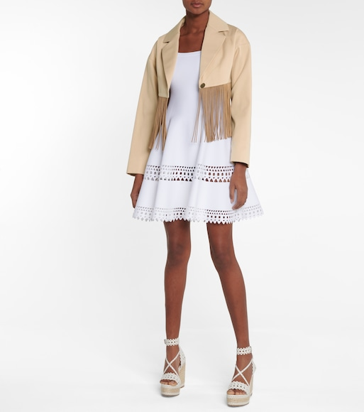 Alaïa - Alaïa Edition 1988 fringed cotton blazer - mytheresa.com