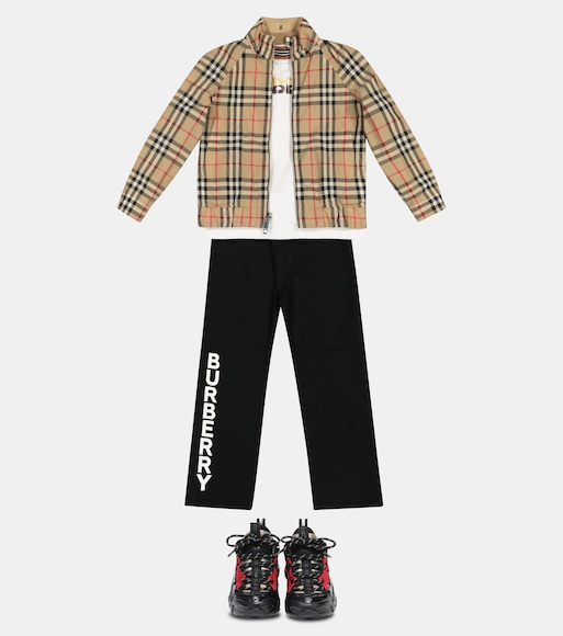 Burberry Kids - تي شيرت من القطن Icon Stripe - mytheresa.com