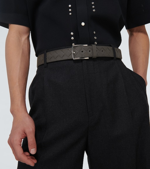 Bottega Veneta - Intrecciato leather belt - mytheresa.com