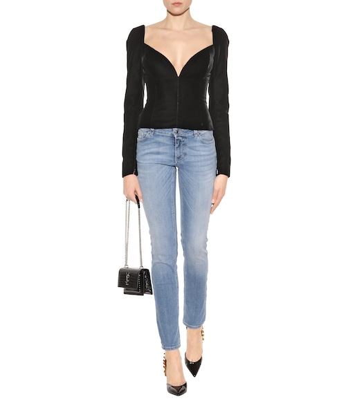 Saint Laurent - Velvet top - mytheresa.com