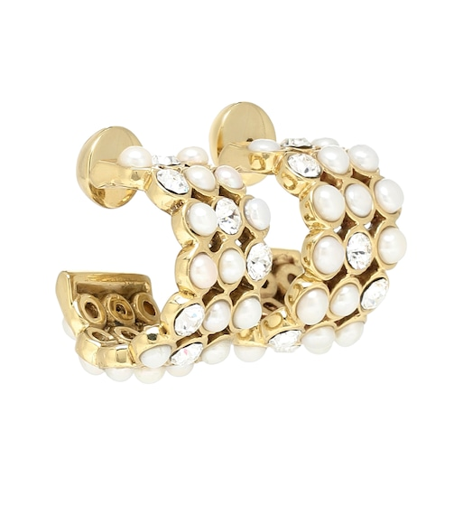 Ellery - Embellished hoop earrings - mytheresa.com